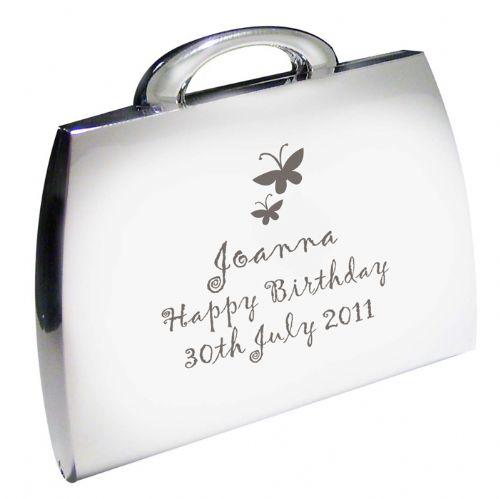 Personalised Butterfly Handbag Compact